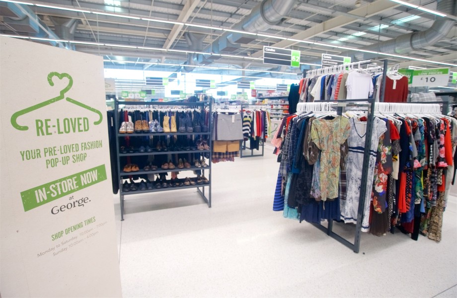 Asda pre loved clothes pop up