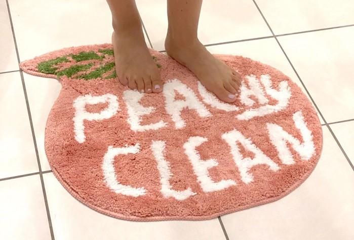 red candy bath mat