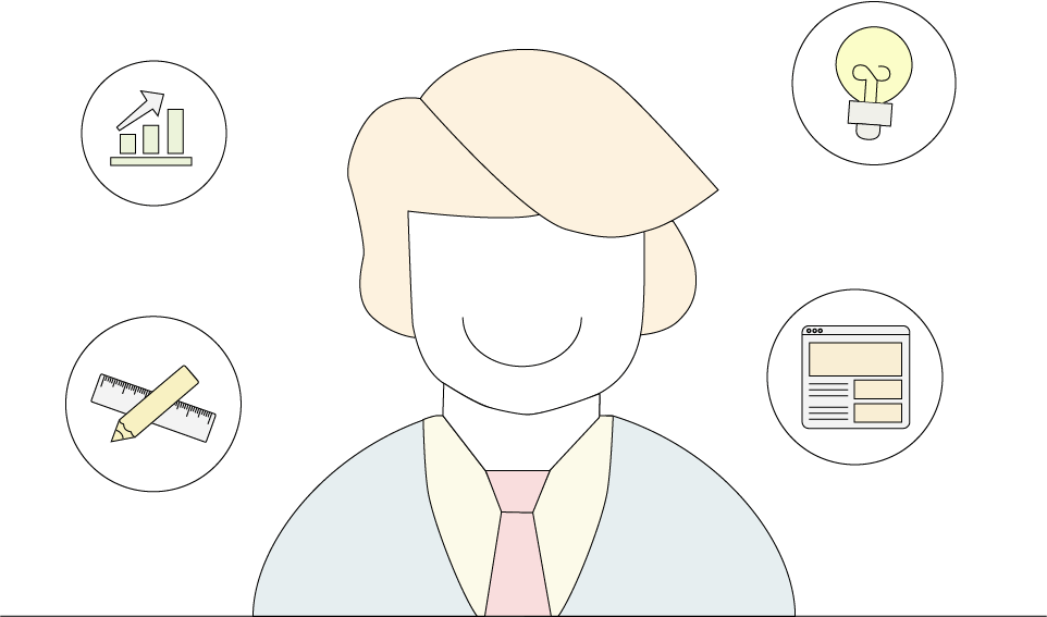 Online Marketing Support Illustration