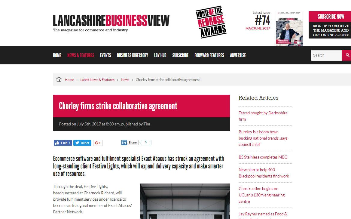 Chorley firms strike collaborative agreement