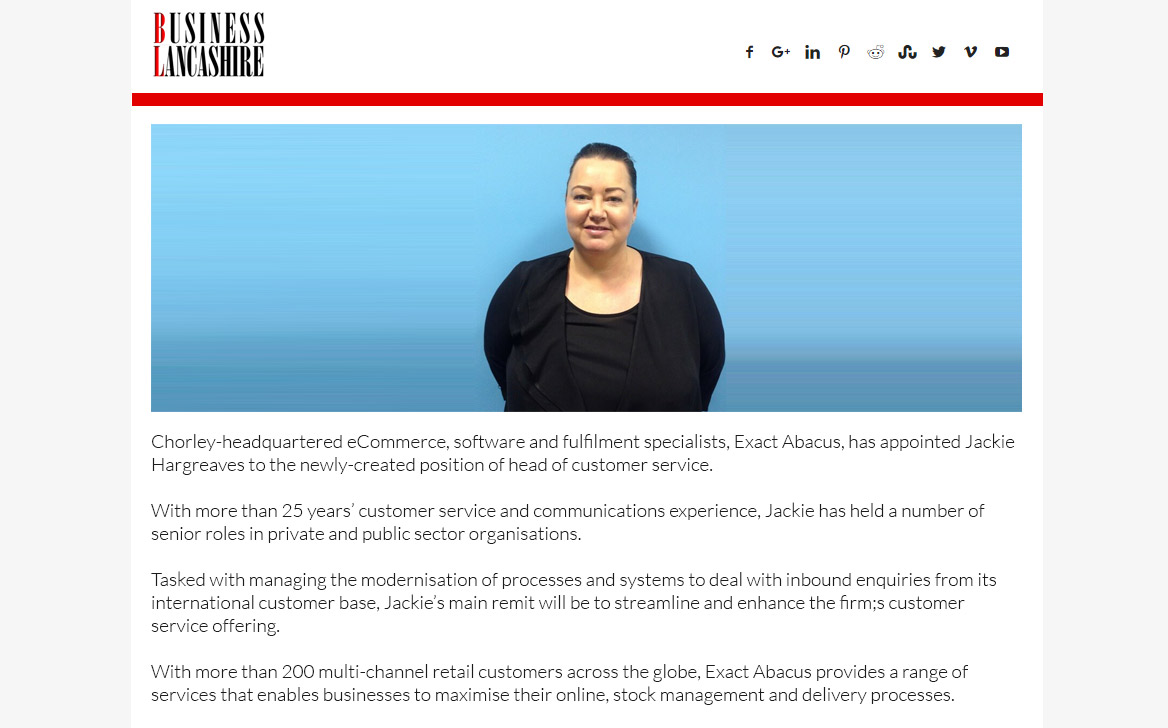 Exact Abacus counts on success with new appointment