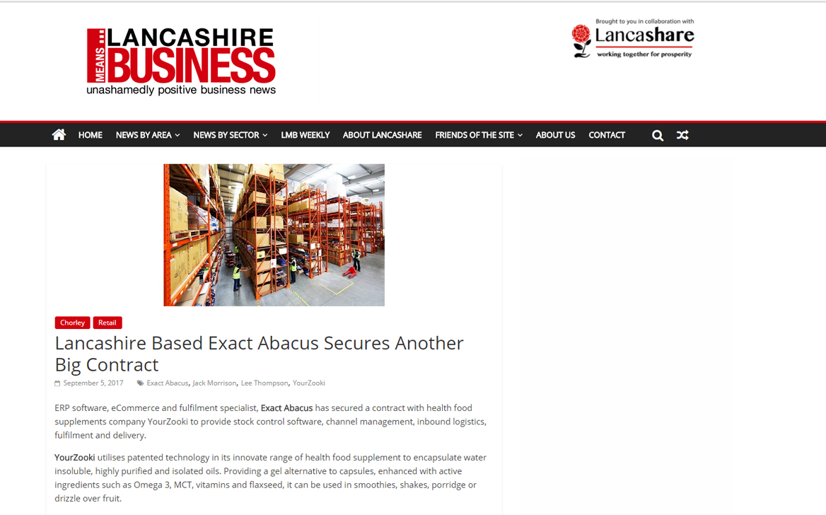 Lancashire Based Exact Abacus Secures Another Big Contract