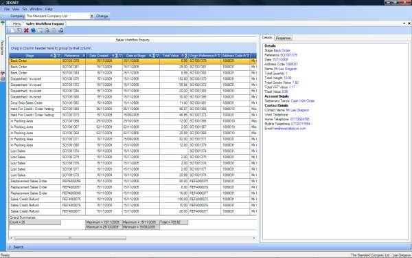Order Enquiries Sales Workflow Enquiry